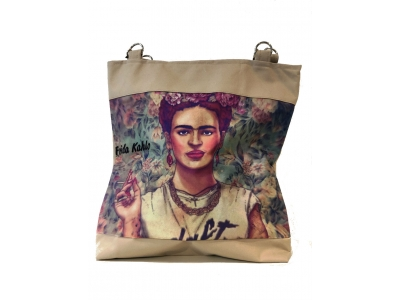 Frida Kahlo shopper beige3