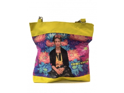 Frida Kahlo shopper geel3