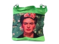 Frida Kahlo shopper groen3