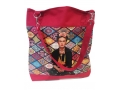 Frida Kahlo shopper rood2